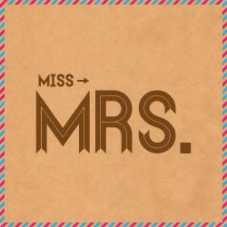 MISS→MRS