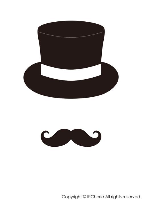 印刷 pdf 印刷の仕方 : 髭とシルクハットの男爵セット