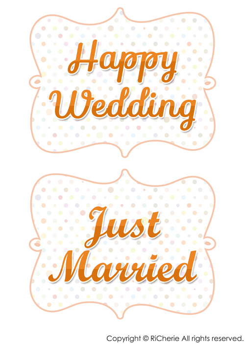 Happy Wedding・Just Married RiCherie ... : さくら 型紙 : すべての講義