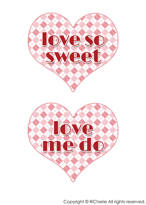 love so sweet・love me do|RiCherie ... : pdf 印刷の仕方 : 印刷
