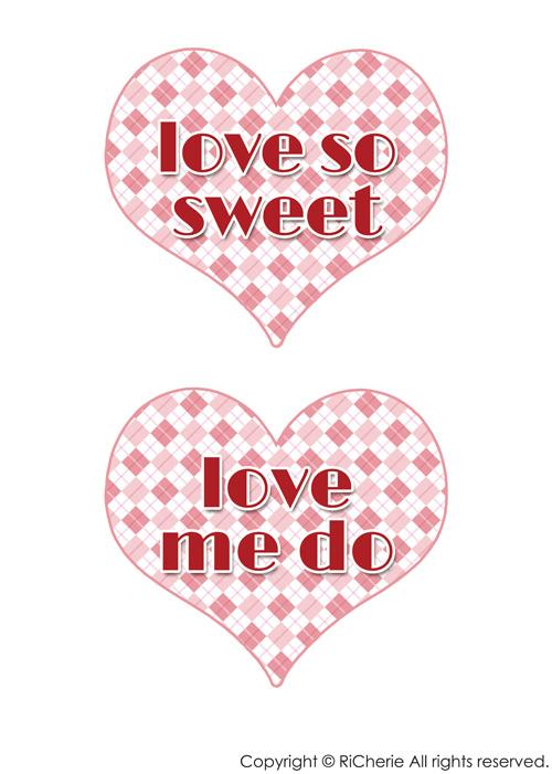 印刷 pdf 印刷の仕方 : love so sweet・love me do|RiCherie ...